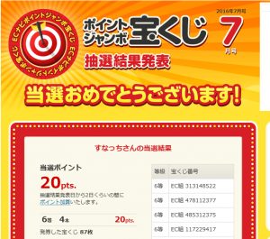 ECナビ - ポイントジャンボ宝くじ 2016-08-02 11-23-49