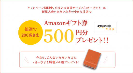 Amazonギフト券も抽選で200名に当たる