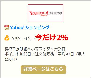 Yahoo!ショッピング2%