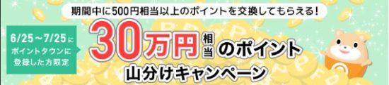 30万円山分けキャンペーン
