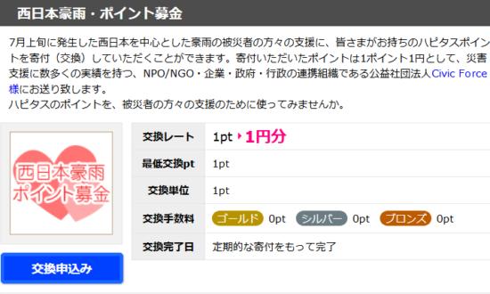 西日本豪雨募金