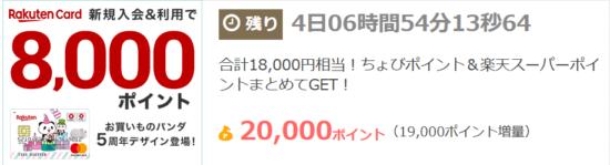 楽天カード発行で10.000円