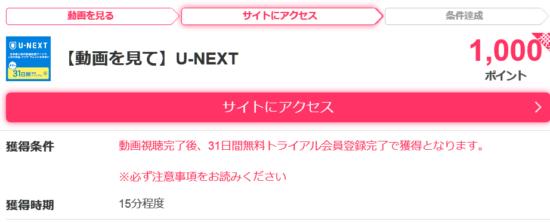 U-NEXTお試し31日無料トライアル